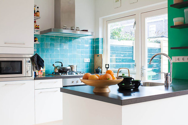 10 small but perfectly formed kitchens for Cuisine turquoise