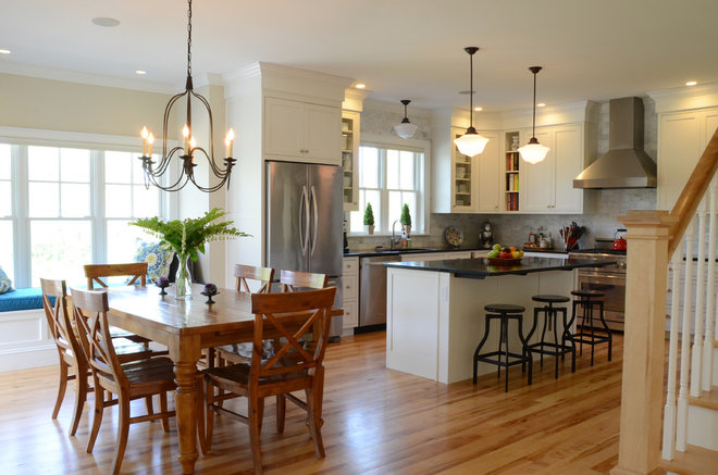 Transitional Kitchen by Faith Towers Media