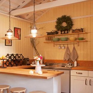 Exemple d'une cuisine romantique.