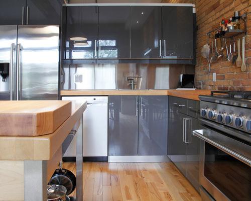 Gray ikea cabinets houzz for Cuisine kallarp
