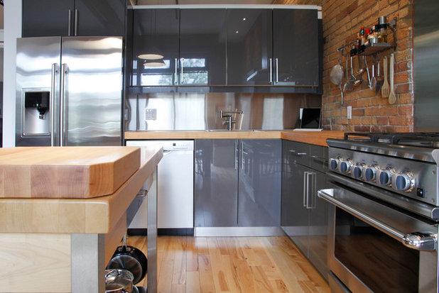 Luxury Industrial Kitchen by Esther Hershcovich