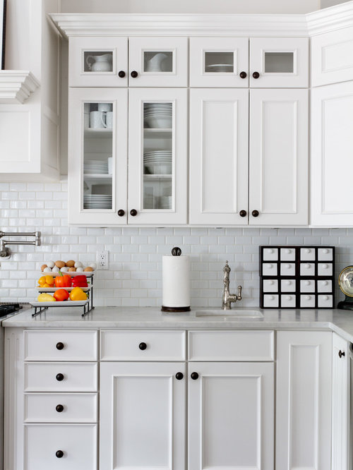 White Kitchen Knobs white cabinet knobs | houzz