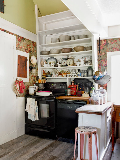 Small shabby chic style kitchen design ideas remodel for Style kitchen nashville reviews