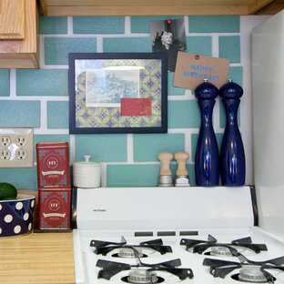 Eclectic kitchen photo in New York