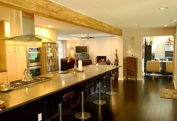 Transitional Kitchen by Kara Mosher