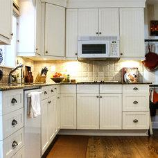 Transitional Kitchen by Mina Brinkey