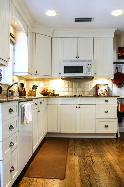 Transitional Kitchen by Mina Brinkey