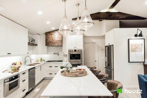 Transitional Kitchen by MIDMODERNdesign