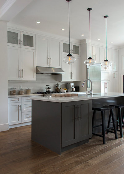 Cool Transitional Kitchen by Heather Merenda