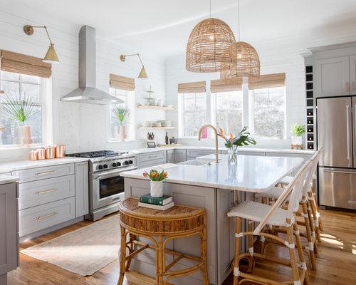 Cucina a U al mare - Foto e Idee per Ristrutturare e Arredare