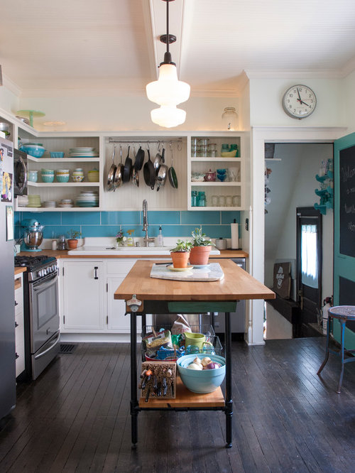 Eclectic Eat-In Kitchen Design Ideas & Remodel Pictures   Houzz