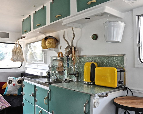 Camper interior houzz for Interior caravan designs