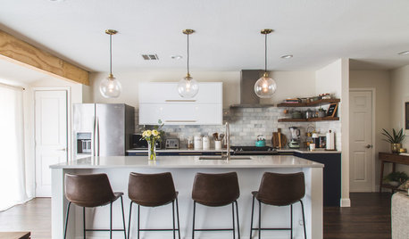 See How 1 Kitchen Looks With Different Island Lights and Stools