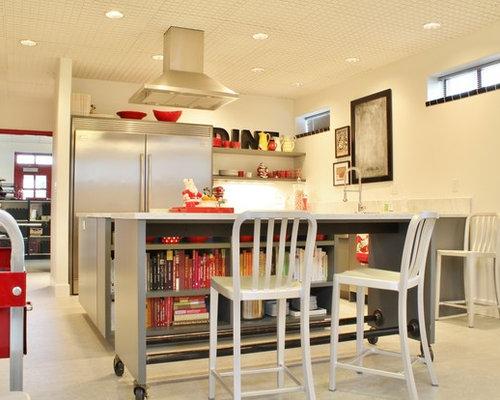 kitchen island on casters | houzz