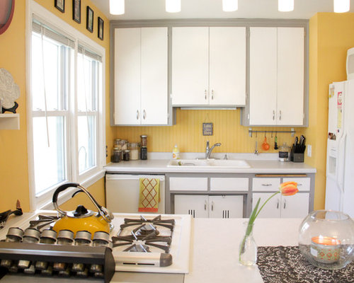 7 930 Yellow And Gray Kitchen Design Ideas