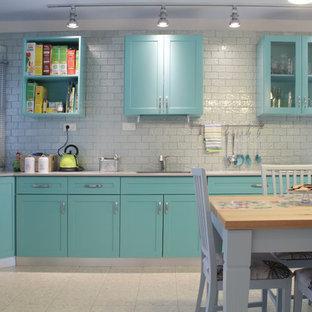 Turquoise And Gray Kitchen Ideas Photos Houzz
