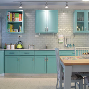 Turquoise And Gray Kitchen Ideas Photos Houzz