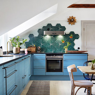 Inspiration for an eclectic kitchen in Stockholm.