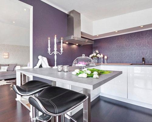 Purple Backsplash Home Design Ideas Pictures Remodel And Decor