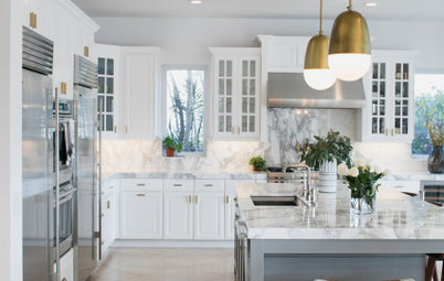 Fresh White Palette Brings Joy to Designer's Kitchen and Bedroom