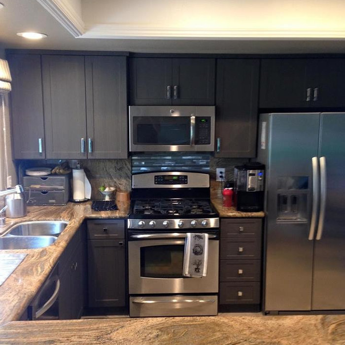Gray Kitchen Cabinet Refacing