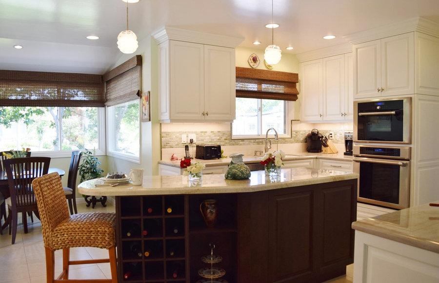 My Transitional Kitchen Design for a Client in Woodland Hills, Ca.