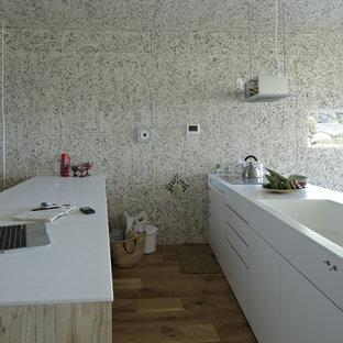 Minimalist Kitchen Photo In Yokohama With An Integrated Sink