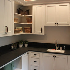 Transitional Laundry Room by Nathan Alan Design