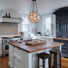 Transitional Kitchen by Buckingham Interiors + Design LLC