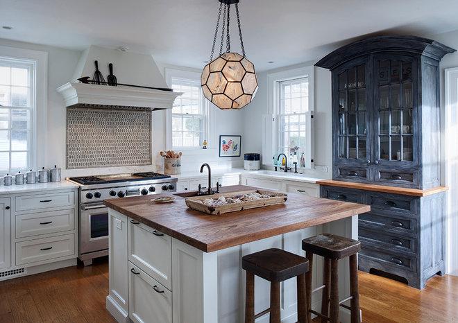 Transitional Kitchen by Buckingham Interiors + Design LLC