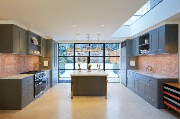 Transitional Kitchen by Naomi Astley Clarke