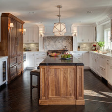 Transitional Kitchen by Gina Bon, Airoom Architects & Builders LLC