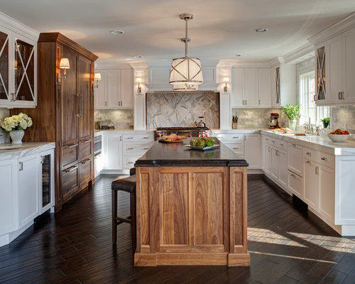 Houzz | Walnut And White Cabinet Design Ideas & Remodel Pictures