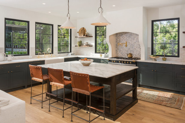 Mediterranean Kitchen by Martin Construction Company