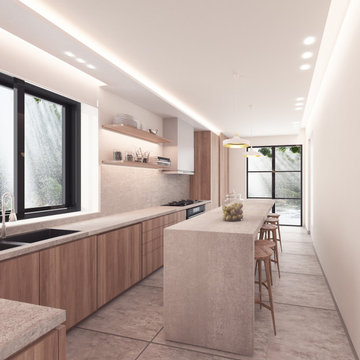 Narrow Kitchen Concept