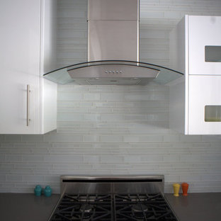 Modern kitchen remodeling - Example of a minimalist kitchen design in Los Angeles