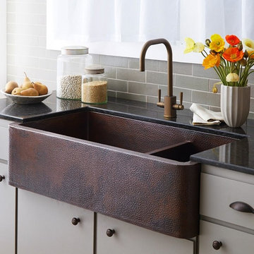 Native Trails Farmhouse Duet Pro Copper Kitchen Sink
