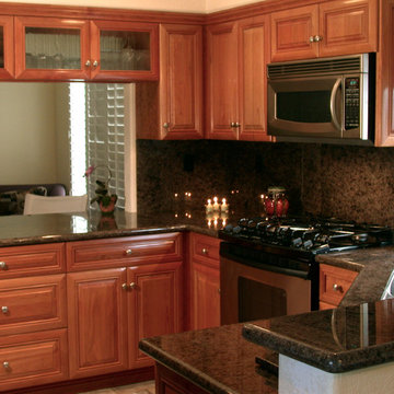 Natural Cherry Wood Kitchen Cabinetry