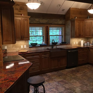 Natural stone farm house kitchen