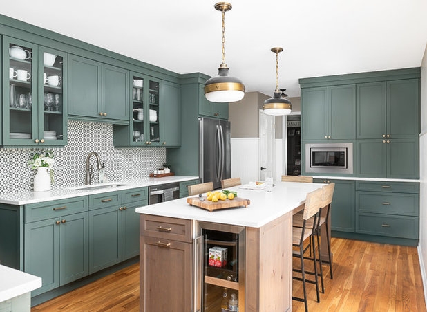 Transitional Kitchen by CHAD ESSLINGER DESIGN
