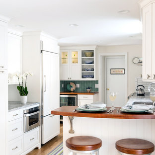 Inspiration for a coastal kitchen remodel in Boston