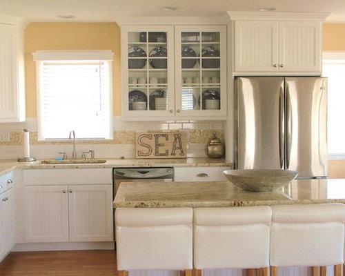 cuisine bord de mer avec un sol en bambou photos et id es d co de cuisines. Black Bedroom Furniture Sets. Home Design Ideas