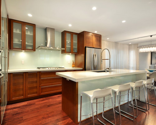 Kitchen Glass Backsplash Pictures kitchen glass backsplash | houzz