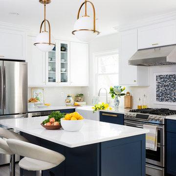 Navy & White Dream Kitchen