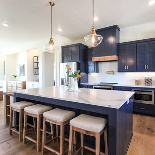 Navy and white modern farmhouse