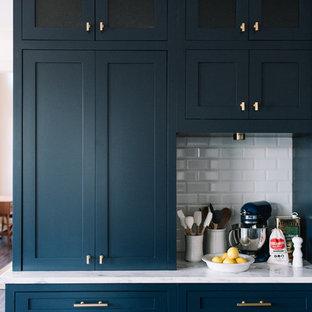 Navy Blue Kitchen Design, Alexandra Lauren Interior Design, Jackson, Tennessee
