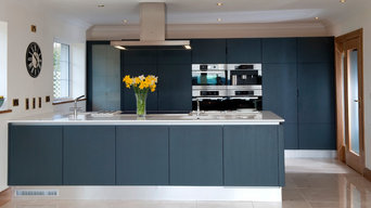Navy Contemporary kitchen