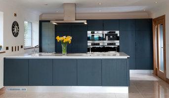 Navy Contemporary kitchen