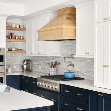 Navy is a Neutral Ranch Remodel & Addition