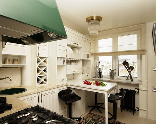 Shabby chic style l shaped kitchen design ideas renovations amp photos